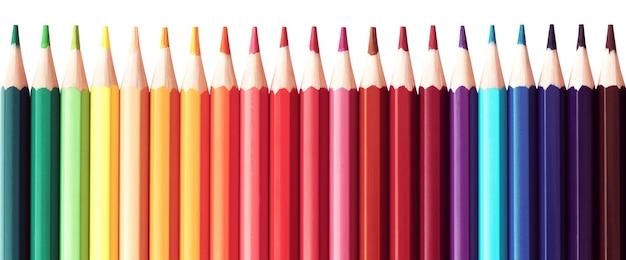 Série de crayons de couleur pour l'école