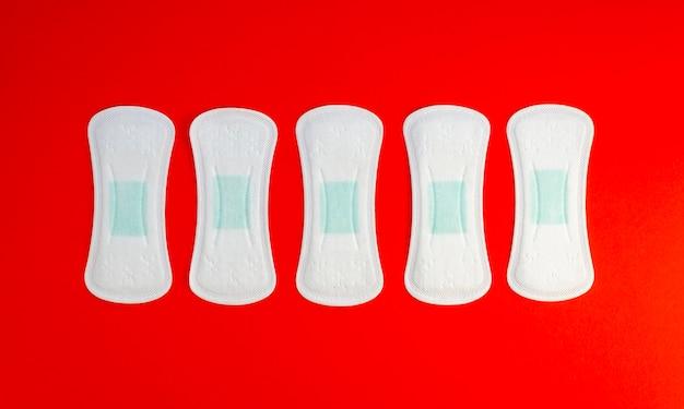 Série de tampons propres vue de dessus