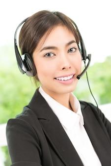 Service d'appel client femme