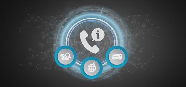 Service d'assistance clientèle et d'assistance rendu 3d