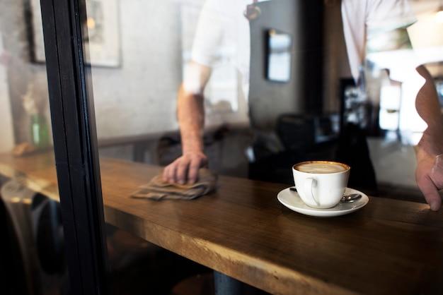 Service café service client personnel