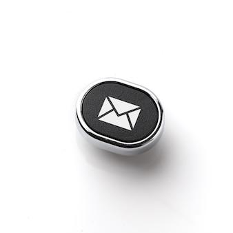 Service client & icône de contact sur le clavier rétro