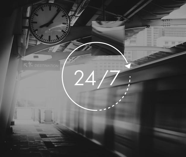 Service à la clientèle 24 heures sur 24, 7 jours sur 7
