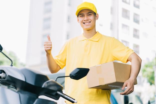 Le service de livraison rapide en asie est en plein essor