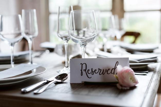 Service réservé élégance fête de luxe