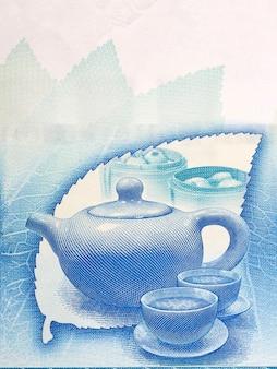 Service à thé traditionnel de l'argent de hong kong