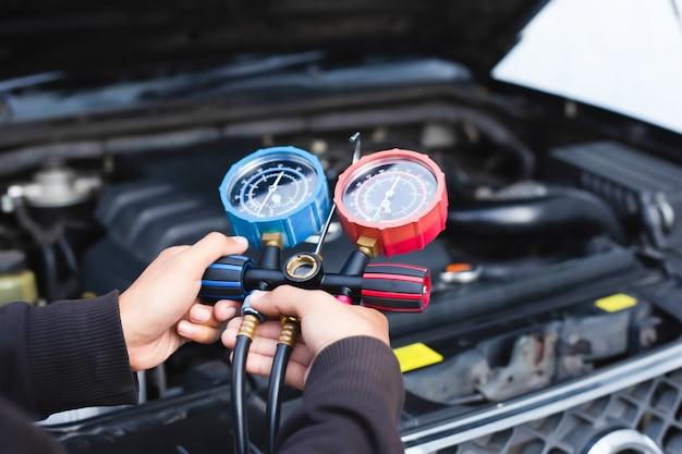 Service de vérification de climatiseur de voiture