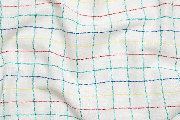 Serviette blanche isolée sur fond blanc. espace de copie.