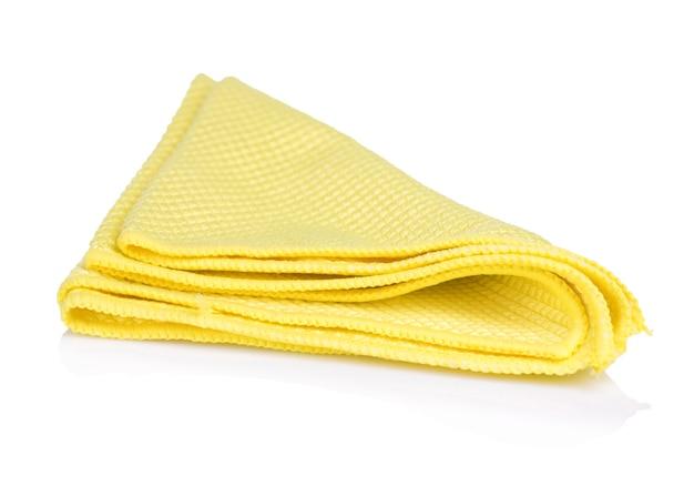 Serviette de cuisine jaune isolé