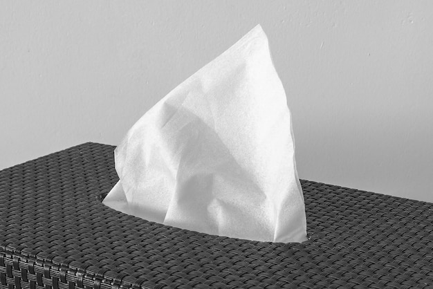 Serviette sèche blanche. fermer