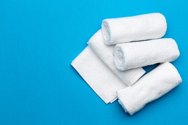 Serviettes de spa, vue de dessus