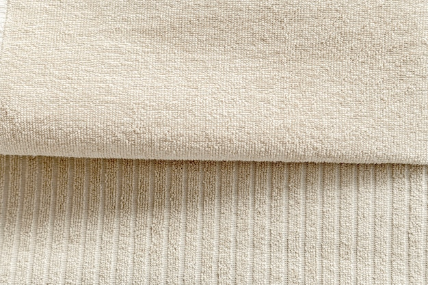 Serviettes texturées en coton naturel