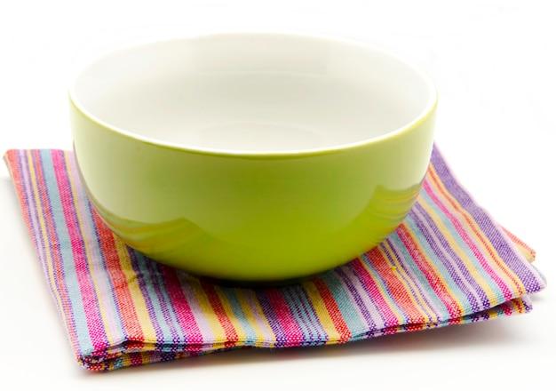 Serviettes en tissu et bol de cuisine