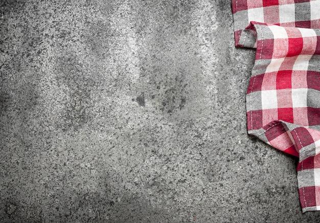 Servir l'arrière-plan. serviette en textile.