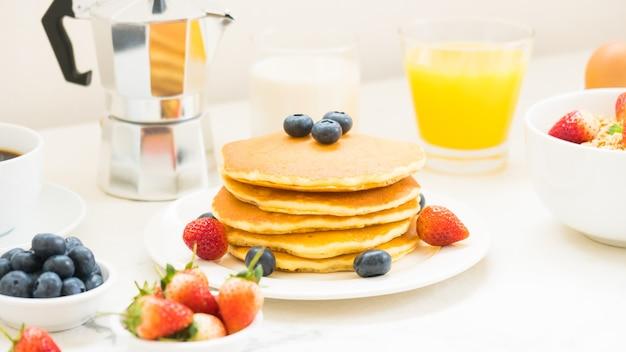 Set de petit-déjeuner sain