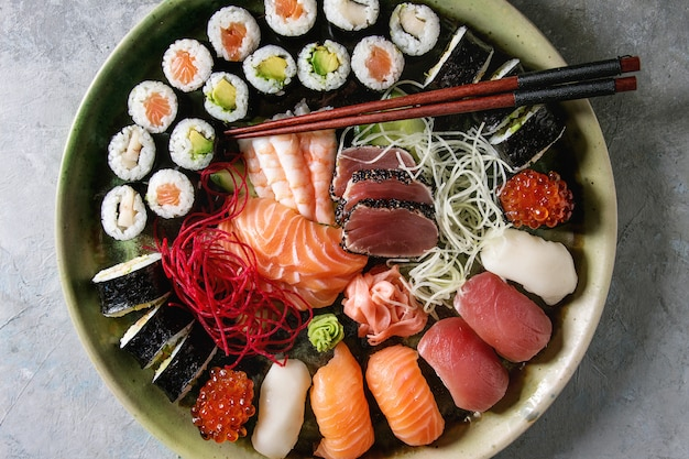 Set de sashimi sushi