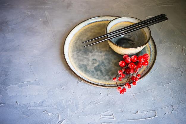 Set de table avec des baguettes