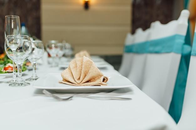 Set de table pour mariage ou autre événement traiteur