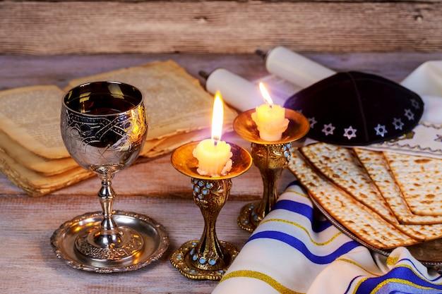 Shabbat shalom - pain challah rituel traditionnel juif,