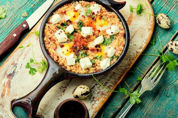Shakshuka israélienne, cuisine arabe