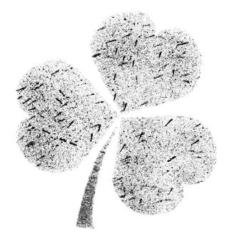 Shamrock - trèfle irlandais au pochoir - illustration raster
