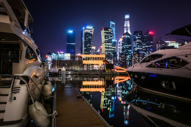 Shanghai la nuit, chine