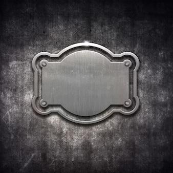 Shiny cadre métallique en détresse sur le fond grunge