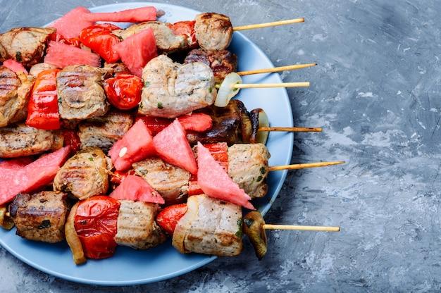 Shish kebab à la pastèque