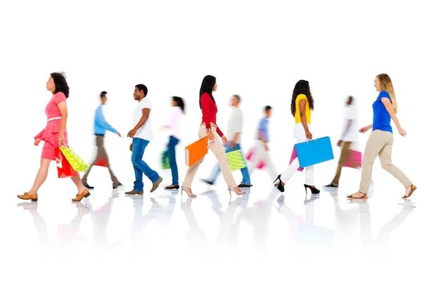 Shopping achat concept client vente particulier