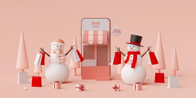 Shopping en ligne et service de livraison sur application mobile
