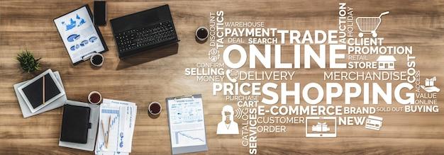 Shopping en ligne et technologie de l'argent sur internet