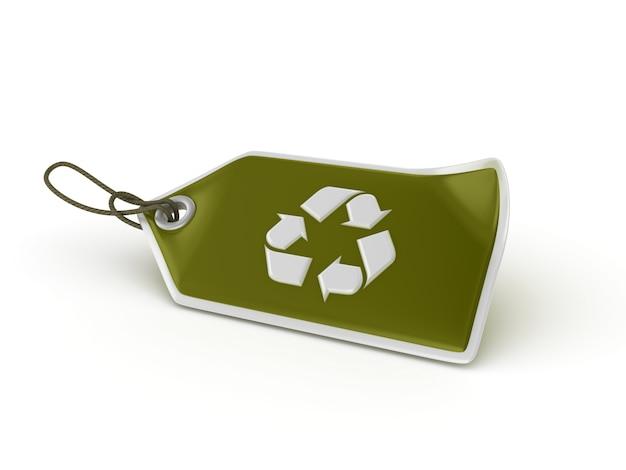 Shopping tag recycling symbol