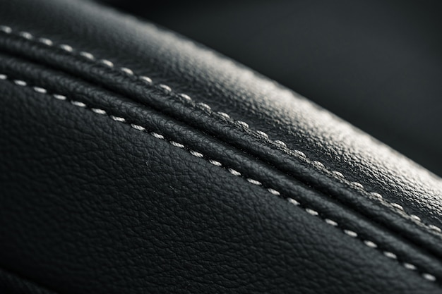 Sièges en cuir d'une nouvelle voiture de luxe
