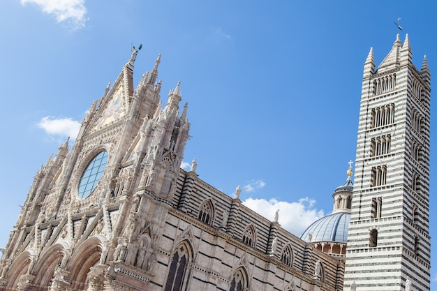 Sienne, région toscane, italie. l'église principale de cette ancienne ville