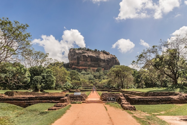 Sigiriya lion rock fortress au sri lanka.