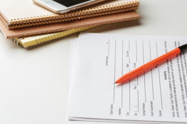 Signature légale du contrat, achat / vente contrat immobilier
