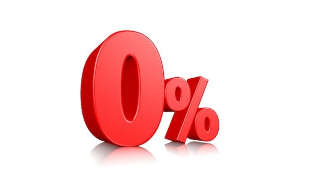 Signe 3d sur fond blanc, étiquette de remise spéciale, 0 pour cent de réduction, bannière, publicité, insigne, emblème, icône web