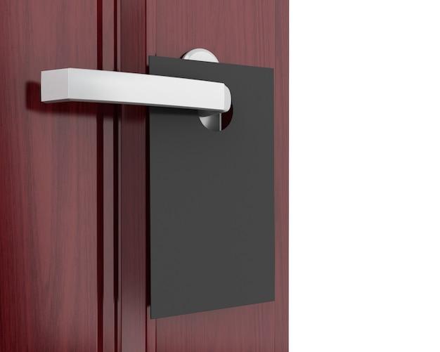 Signe 3d sur la poignée de la porte