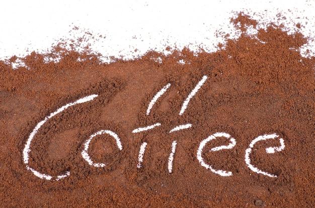 Signe café moulu