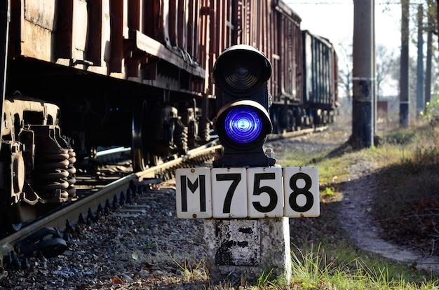 Signe de chemin de fer avec le chemin de fer