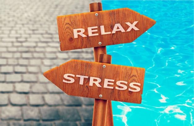 Signe créatif détendu x stressé, différentes directions.