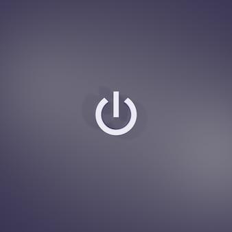 Signe du bouton d'alimentation de rendu 3d