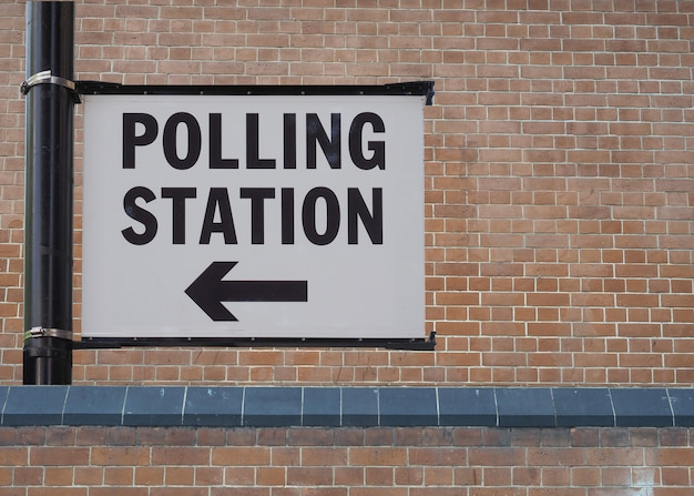 Signe du bureau de vote