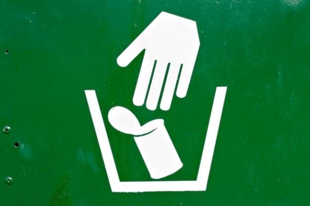 Signe l'élimination des déchets