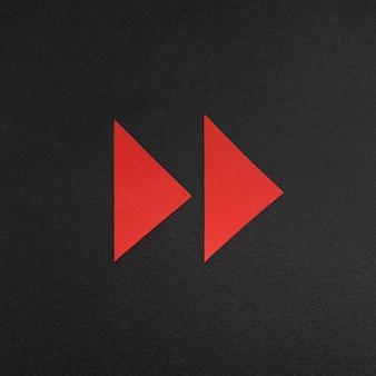Signe de flèche rouge