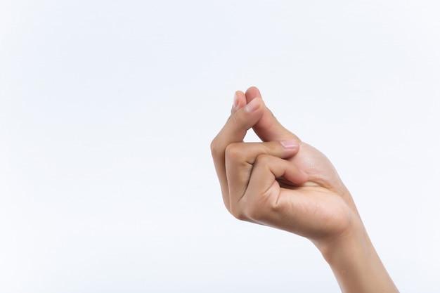 Signe de geste italien main féminine