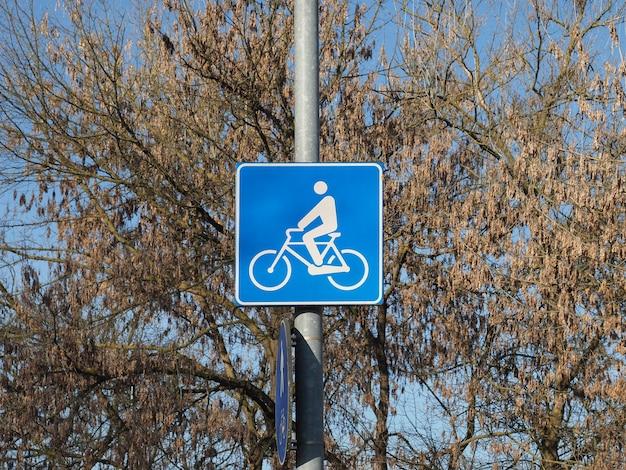 Signe de piste cyclable