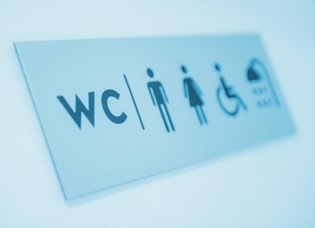 Signe des toilettes et des douches