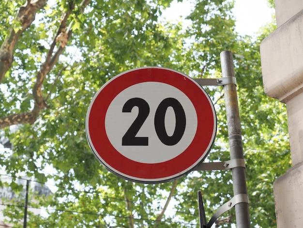 Signe de vitesse maximale