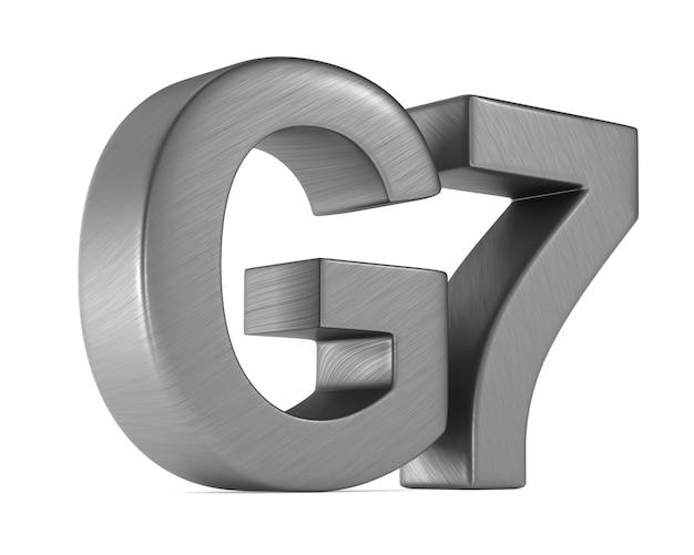 Signer le groupe g7 sur l'espace blanc